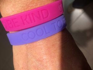 it's cool to be kind armband voor stichting paard in nood