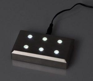 lichtsokkel nano zwart brandend